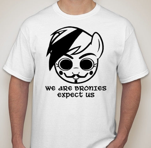 Anonymous Brony My Little Pony Expect Us T-shirt
