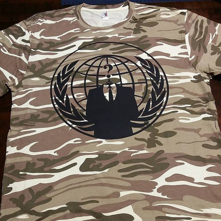 Anonymous Crest Camouflage T-shirt | My Anon Store