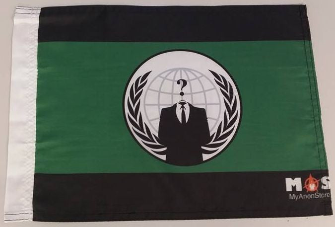 "Anonymous Crest Myanonstore Logo 15x12"" Mini Flag"