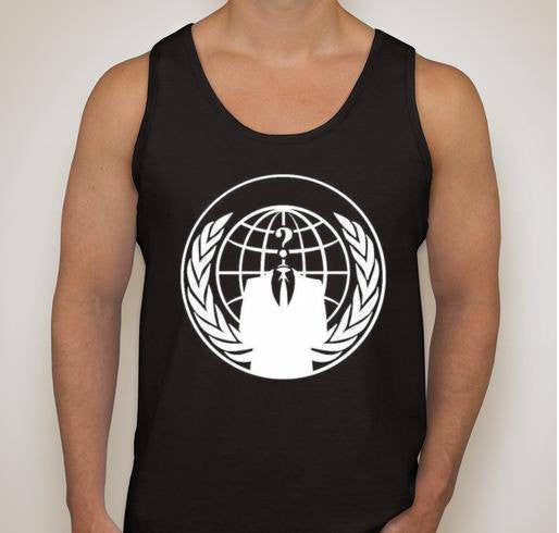 Anonymous Crest White Art Tank Top