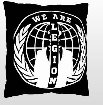Anonymous Split Crest We Are Legion Pillow
