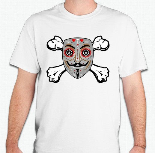 Anonymous Day Of The Dead Crossbones T-shirt