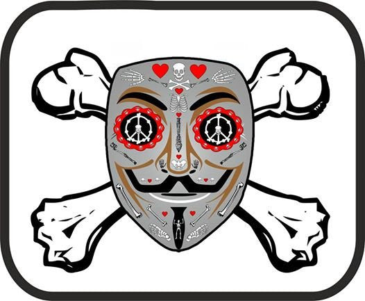 Anonymous Mouse Pad | Day Of The Dead Crossbones