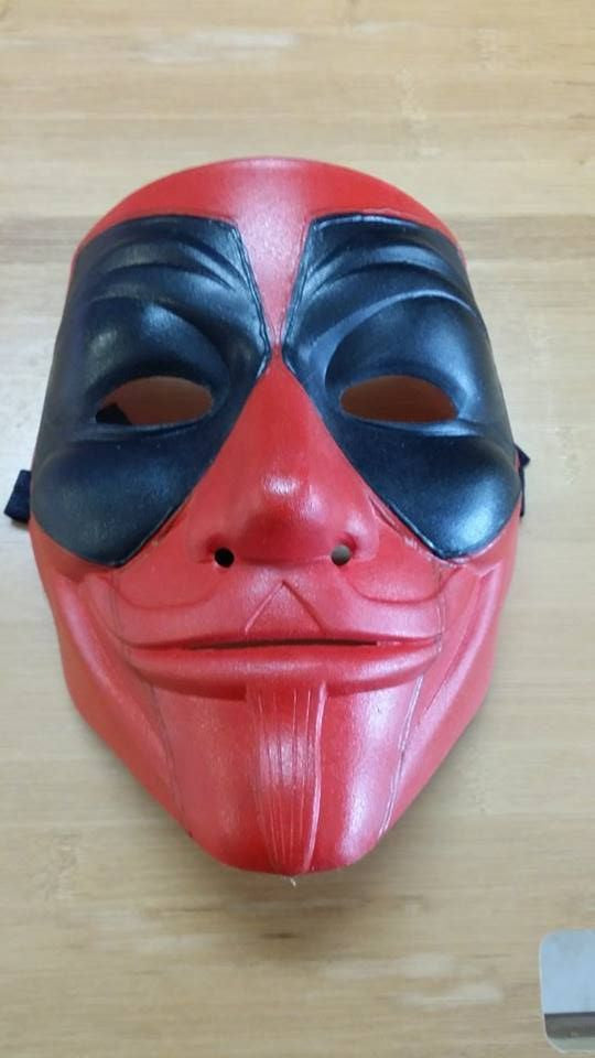 Anonymous Deadpool Custom Mask Hand Painted Guy Fawkes
