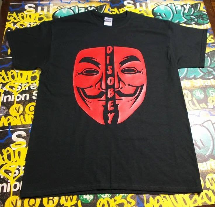 Anonymous Disobey Red Mask T-shirt