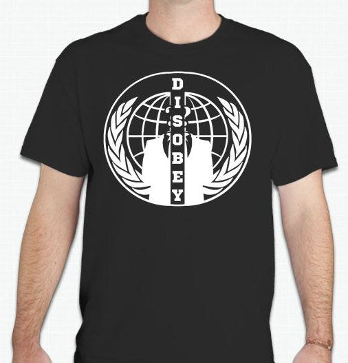 Anonymous Disobey Split Crest Variation T-shirt