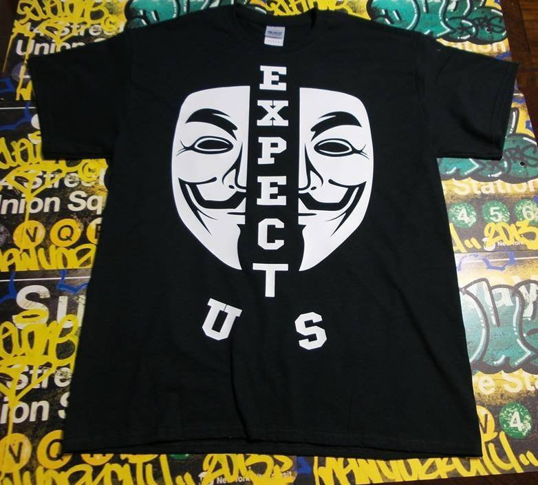 Anonymous Mask Expect Us T-shirt
