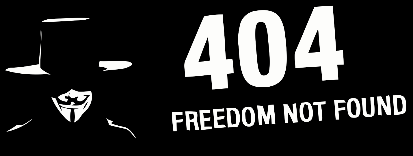 anonymous error 404 freedom not found small logo t shirt my anon store rh myanonstore com smallftpd anonymous small anonymous