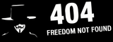 Anonymous Error 404 Freedom Not Found T-shirt small logo