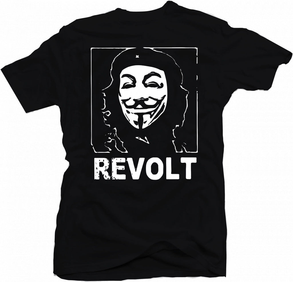 Anonymous Guevara Mask Revolt T-shirt | My Anon Store