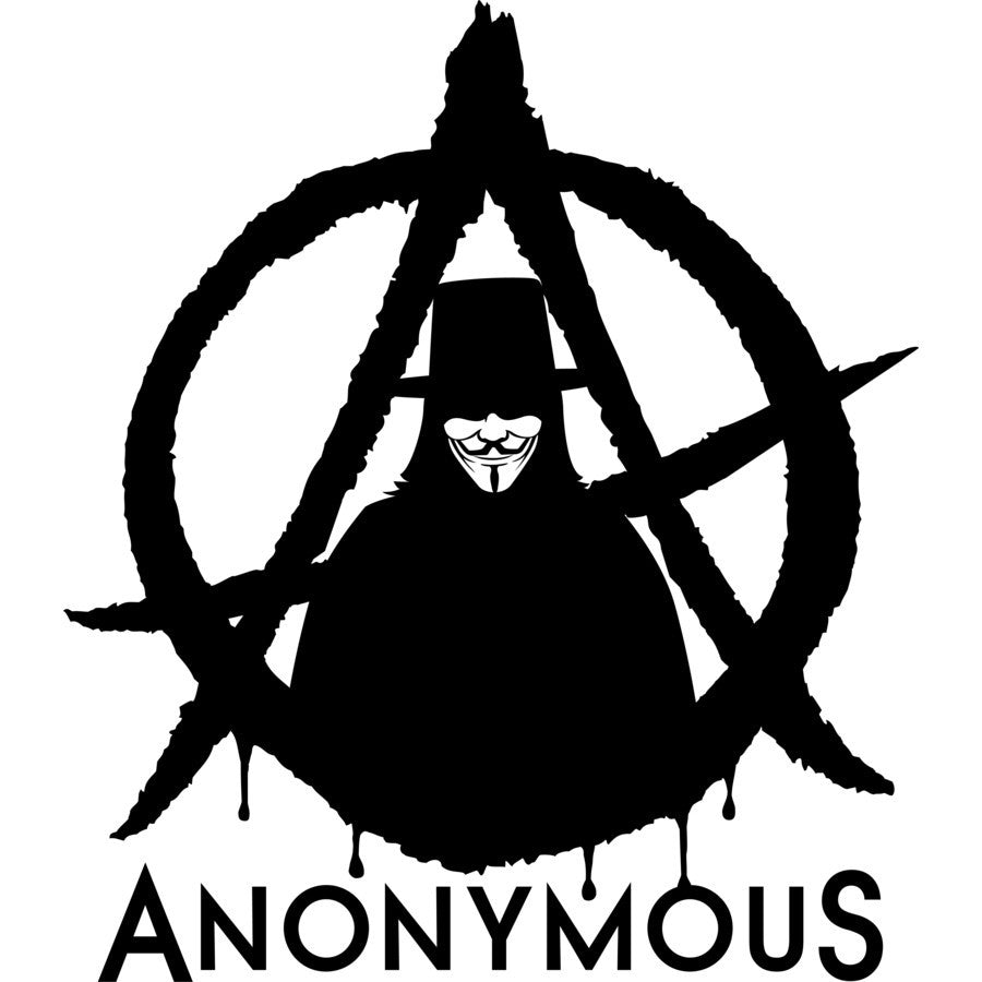 Anonymous guy fawkes anarchy die cut vinyl sticker decal