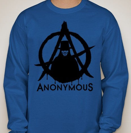 Anonymous Guy Fawkes Anarchy Long Sleeve T-shirt