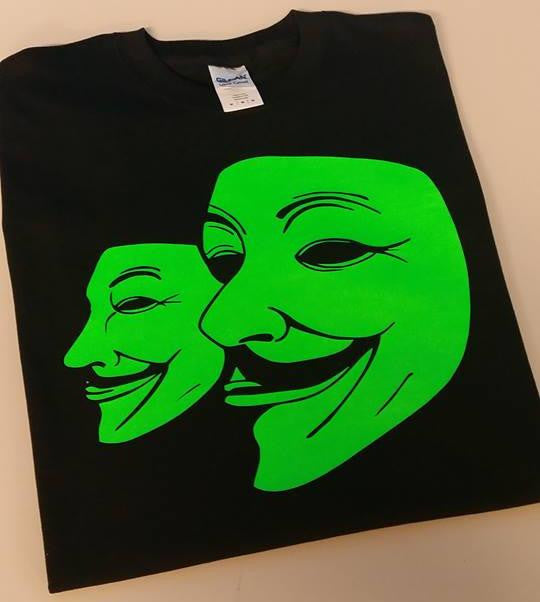 Anonymous Green Masks Guy Fawkes T-shirt