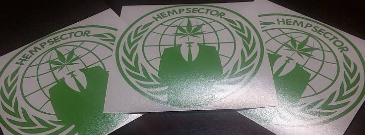 AnonOps HempSector Anonymous Operations | Die Cut Vinyl Sticker Decal