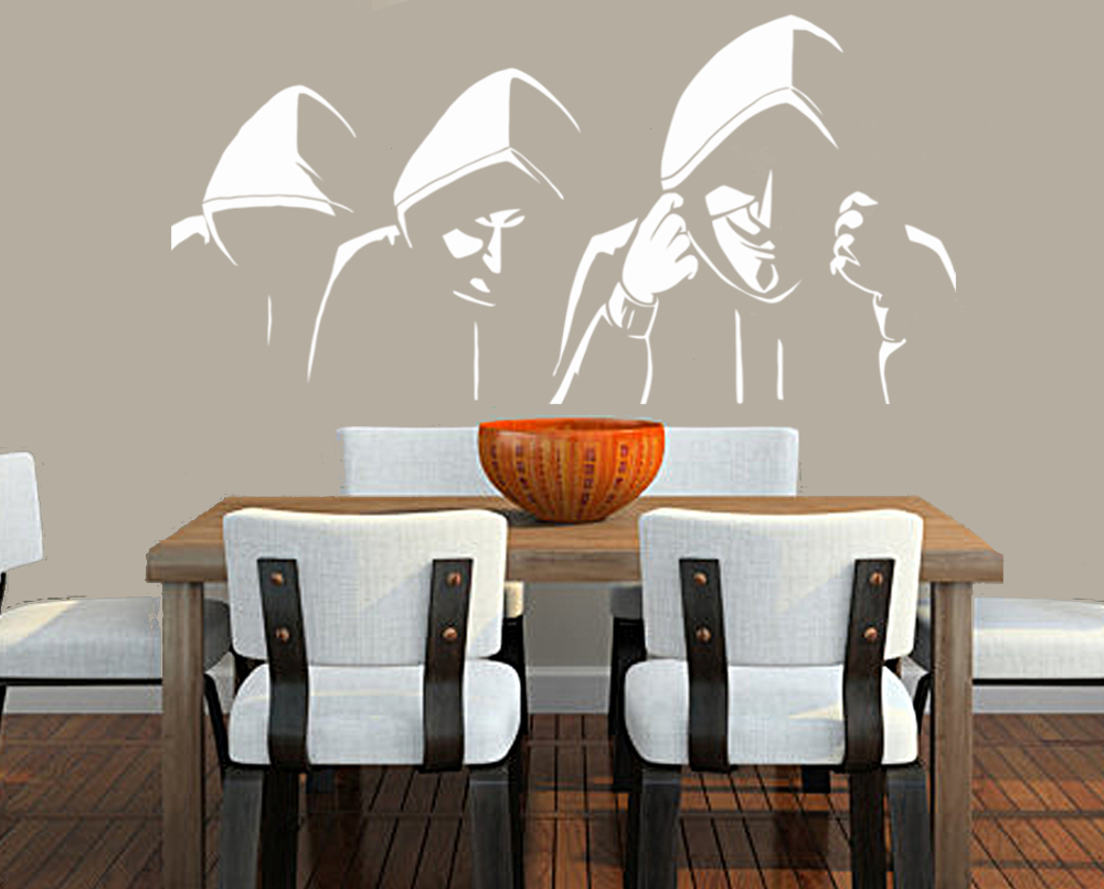 "Anonymous In Hoodies 23"" Die Cut Vinyl Wall Decal Sticker"