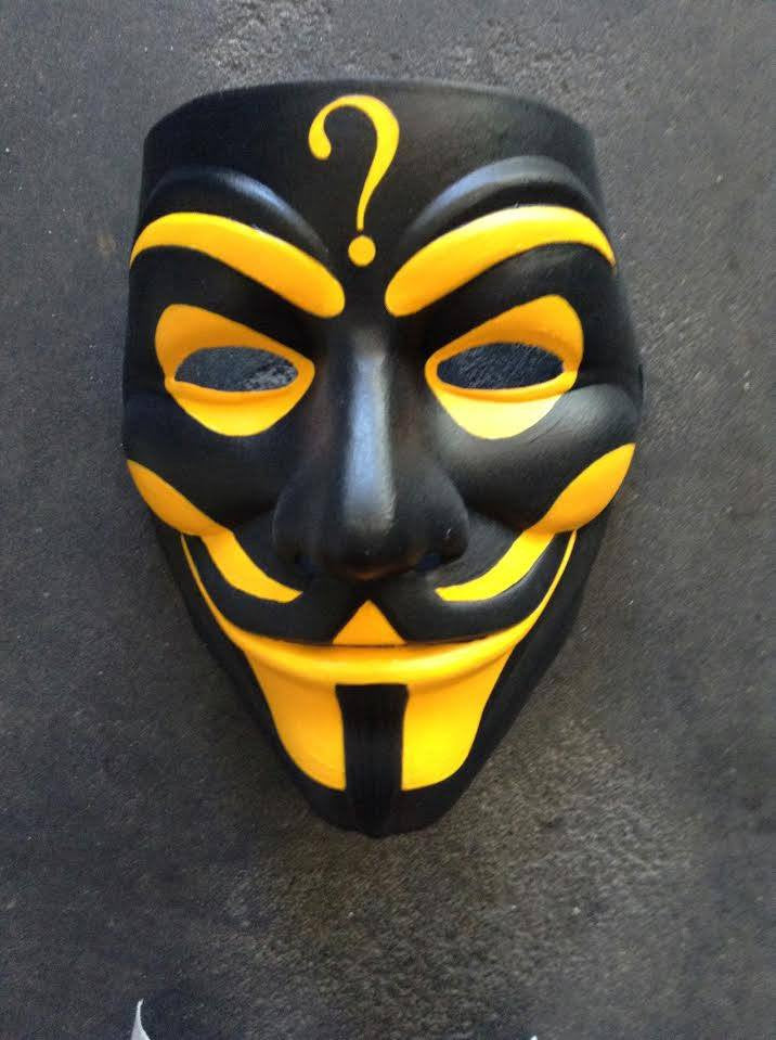 Anonymous Insane Clown Posse Custom Mask Hand Painted Guy Fawkes Save The Bees