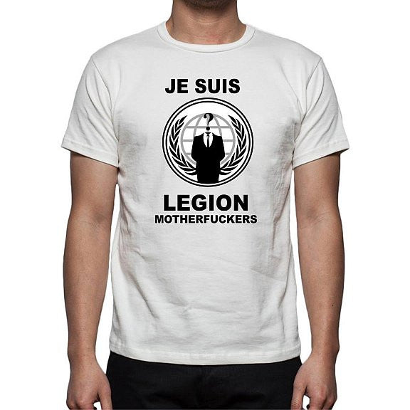Anonymous Je Suis Legion Motherfuckers T-shirt | My Anon Store