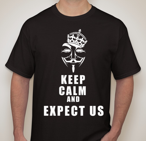 Anonymous Keep Calm And Expect Us T-shirt