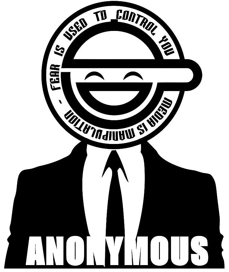 Anonymous Laughing Man Fear Is Used To Control You | Die Cut Vinyl Sticker Decal