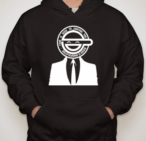 Anonymous Laughing Man Fear Is Used To Control You Hoodie