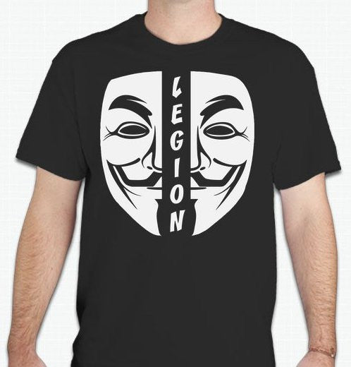 Anonymous Legion Split Mask T-shirt