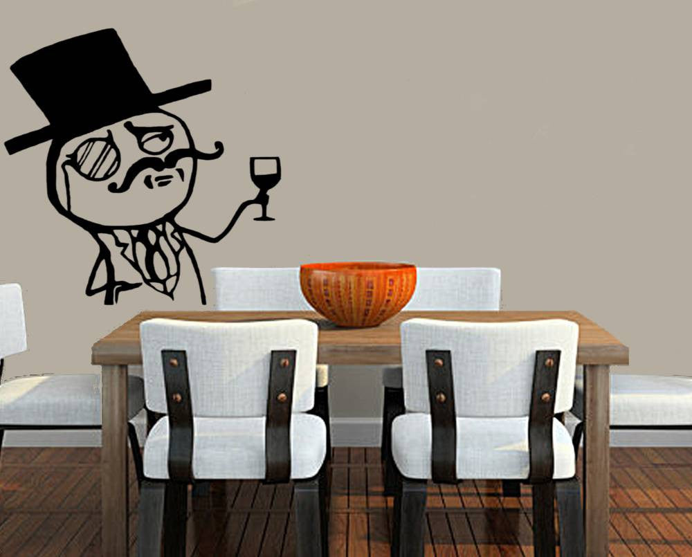 "Anonymous Like A Sir Meme 23"" Die Cut Vinyl Wall Decal Sticker"