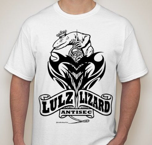 Anonymous Antisec Lulz Lizard Big Ben T-shirt | My Anon Store