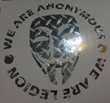 Anonymous Mask Credo Diamond Plate Chrome | Die Cut Vinyl Sticker Decal