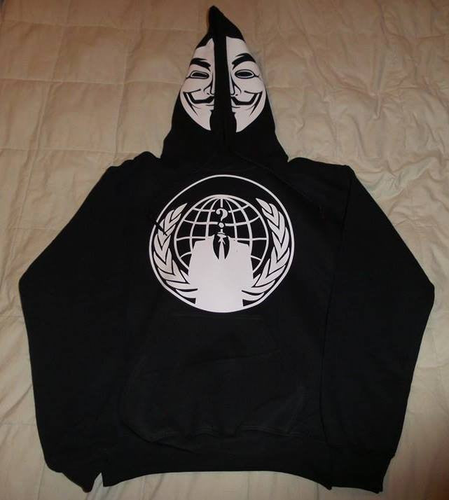 Anonymous Mask with Crest Hoodie