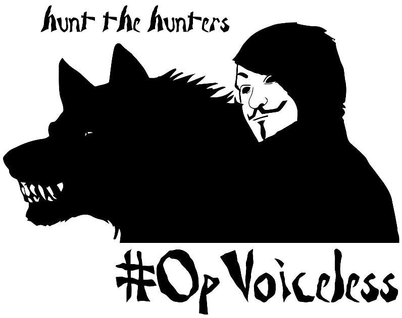 Anonymous Operation #OpVoiceless #OpSweWolves Wolf | Die Cut Vinyl Sticker Decal