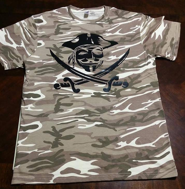 Anonymous Pirate Camouflage T-shirt | My Anon Store