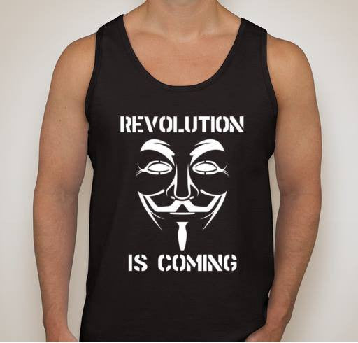 Anonymous Revolution Is Coming Tank Top