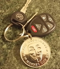Anonymous Keychain  | heavy solid, plated with different tones