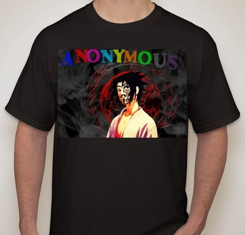 Anonymous Sasuke Naruto T-shirt