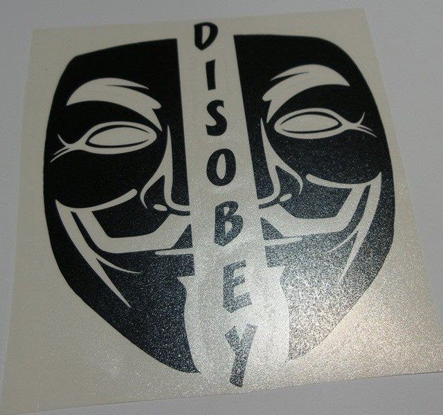 Anonymous Disobey Split Mask | Die Cut Vinyl Sticker Decal