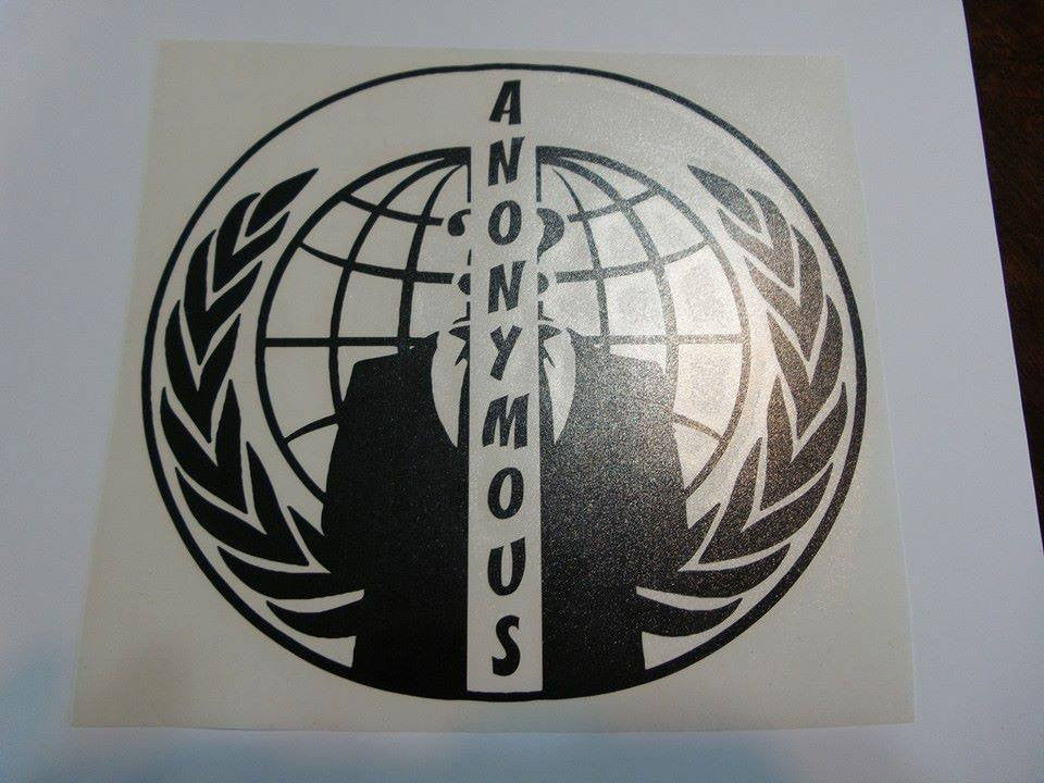 Anonymous Split Crest Variation | Die Cut Vinyl Sticker Decal
