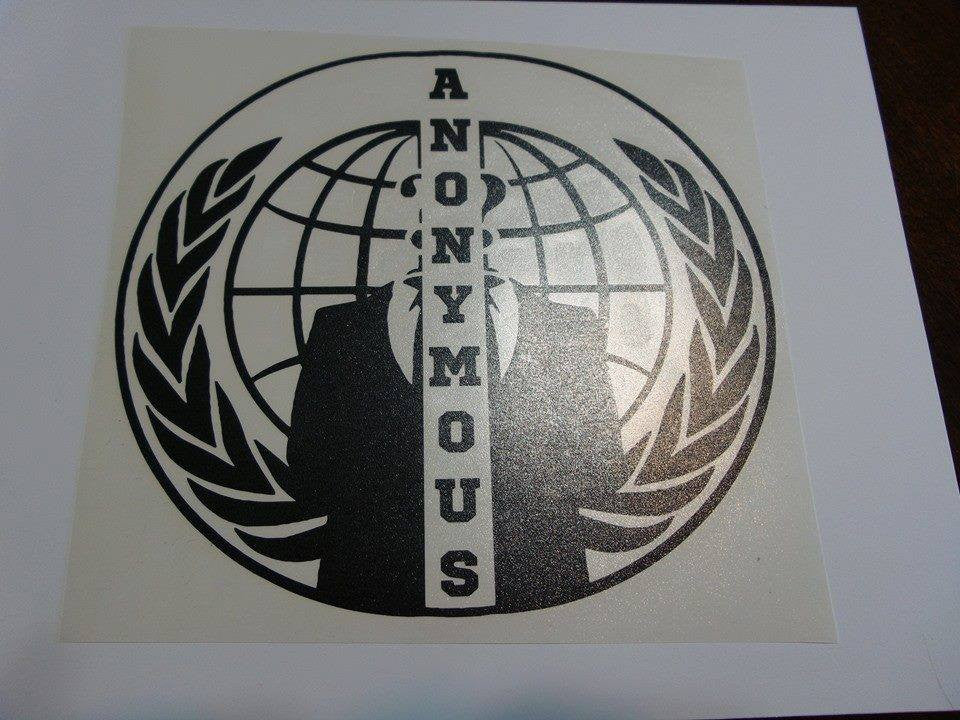 Anonymous Split Crest | Die Cut Vinyl Sticker Decal