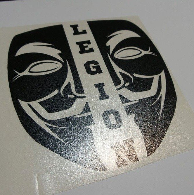 Anonymous Split Mask Legion | Die Cut Vinyl Sticker Decal