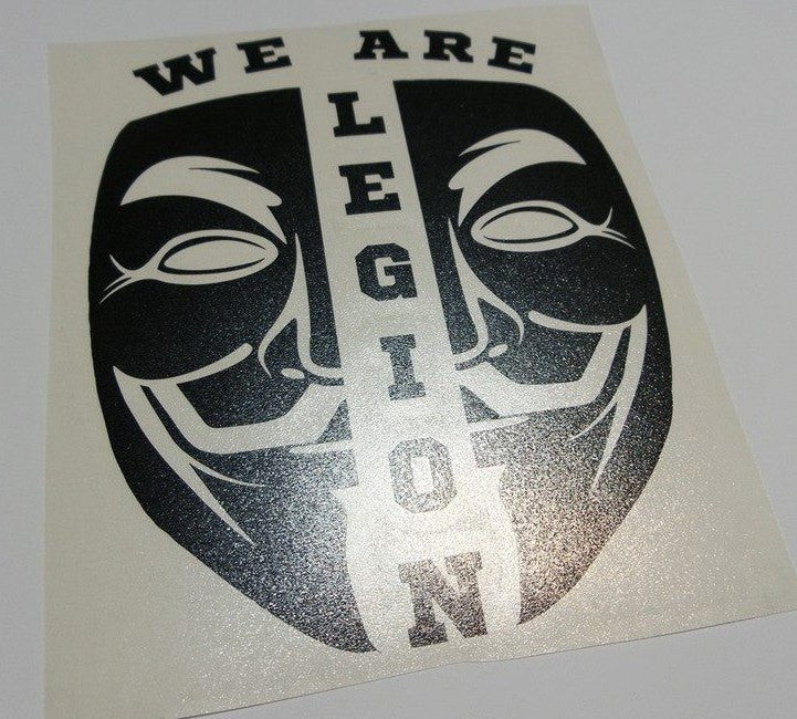 Anonymous Split Mask We Are Legion | Die Cut Vinyl Sticker Decal