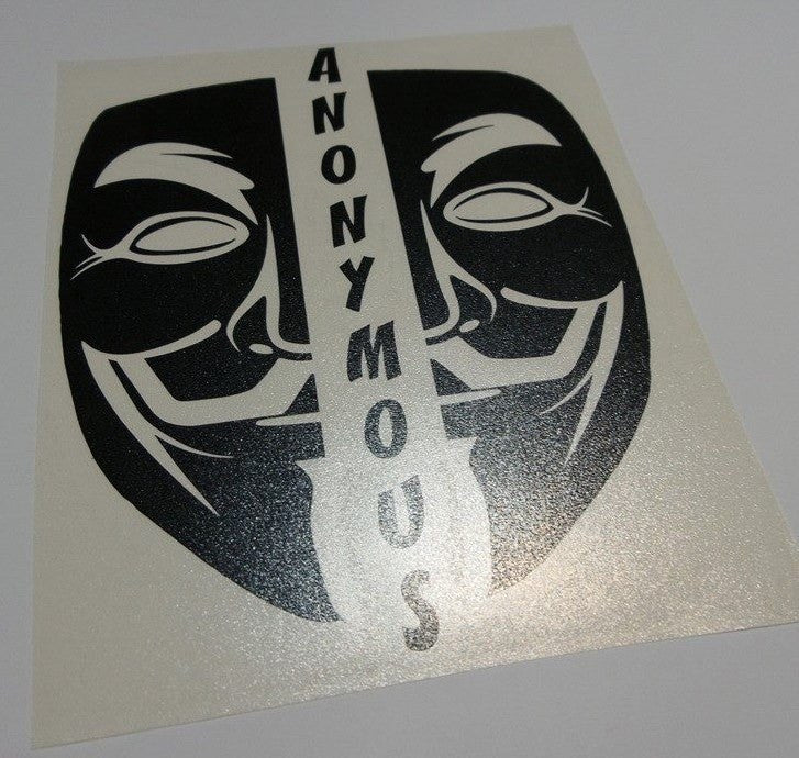 Anonymous Split Mask | Die Cut Vinyl Sticker Decal
