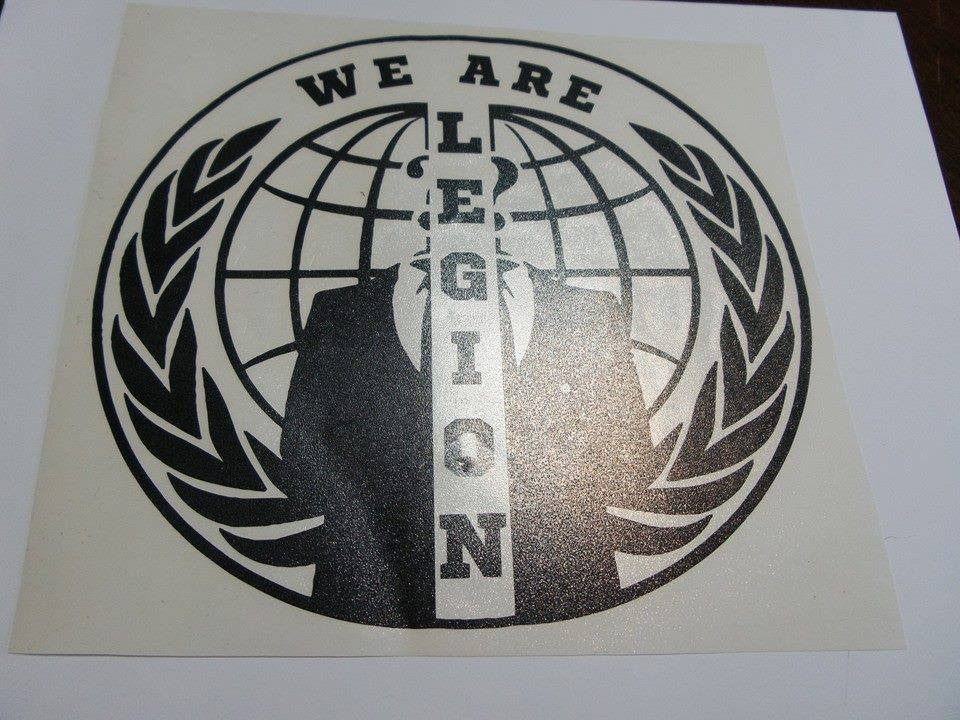 Anonymous Split Crest We Are Legion Variation | Die Cut Vinyl Sticker Decal