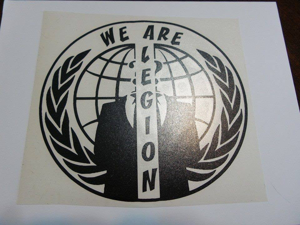 Anonymous Split Crest We Are Legion | Die Cut Vinyl Sticker Decal