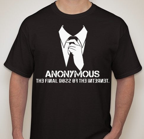 Anonymous The Final Boss Of The Internet T-shirt