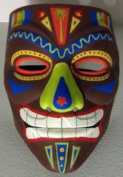 Anonymous Voodoo  African Tribal Custom Mask Hand Painted Guy Fawkes