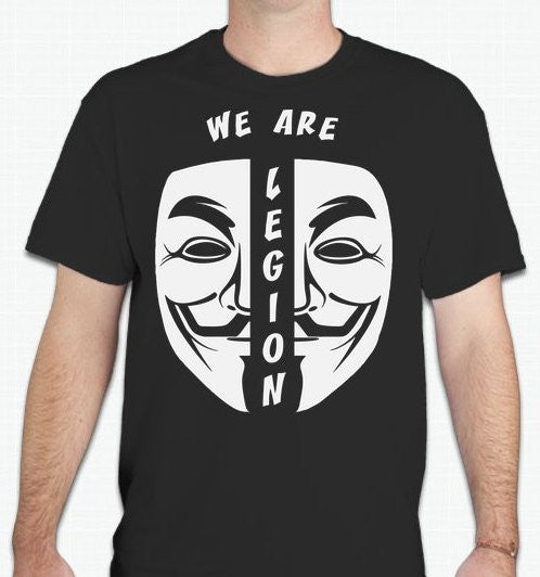 Anonymous We Are Legion Split Mask T-shirt