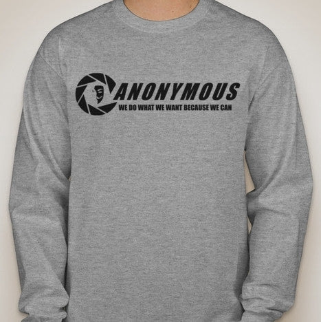 Anonymous We Do What We Want Because We Can Long Sleeve T-shirt