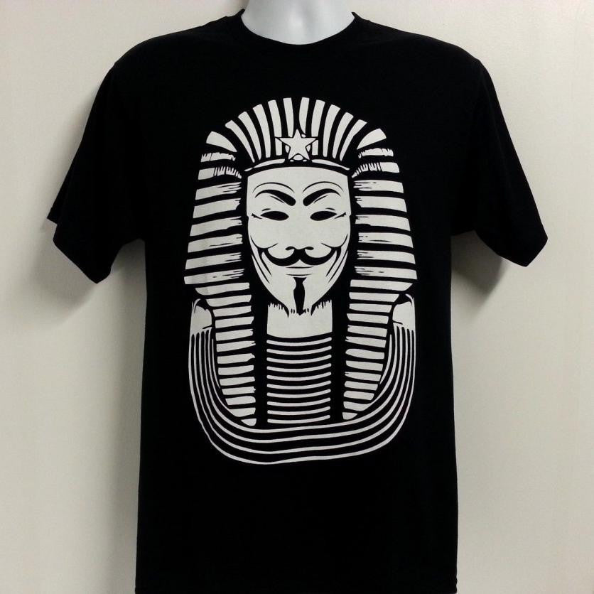 Anonymous Pharaoh White Print T-shirt