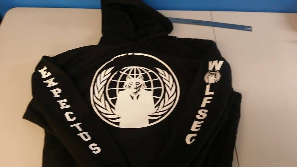 #Wolfsec Anonymous Crest Expect Us Wolf Hoodie