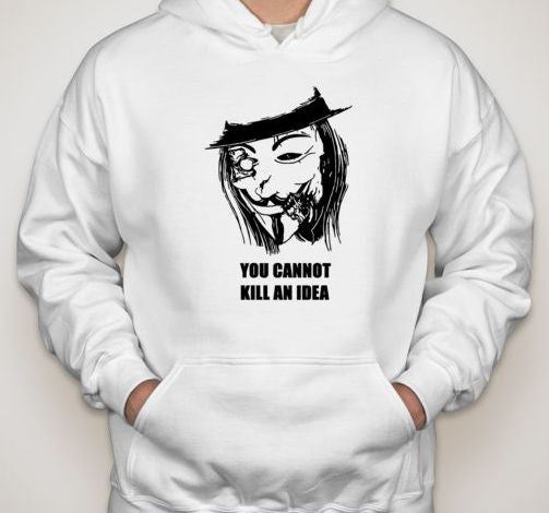 Anonymous Zombie Guy Fawkes You Cannot Kill An Idea Hoodie