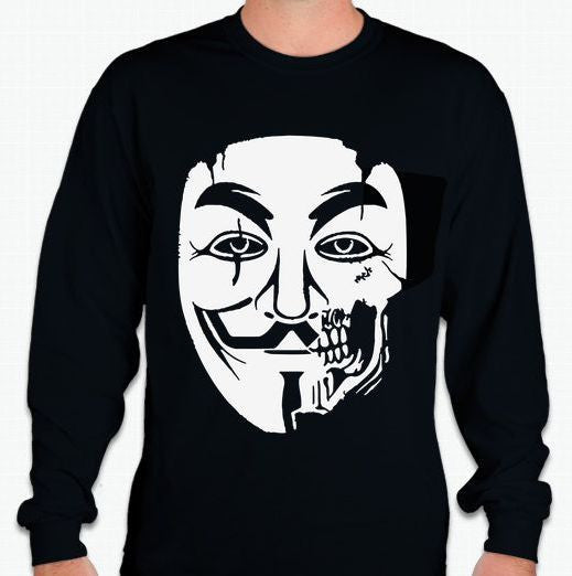 Anonymous Zombie Long Sleeve T-shirt Variation